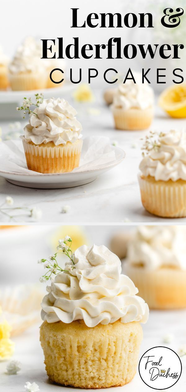 Lemon and Elderflower Cupcakes - Food Duchess These cute little cupcakes feature lemon flavored cup