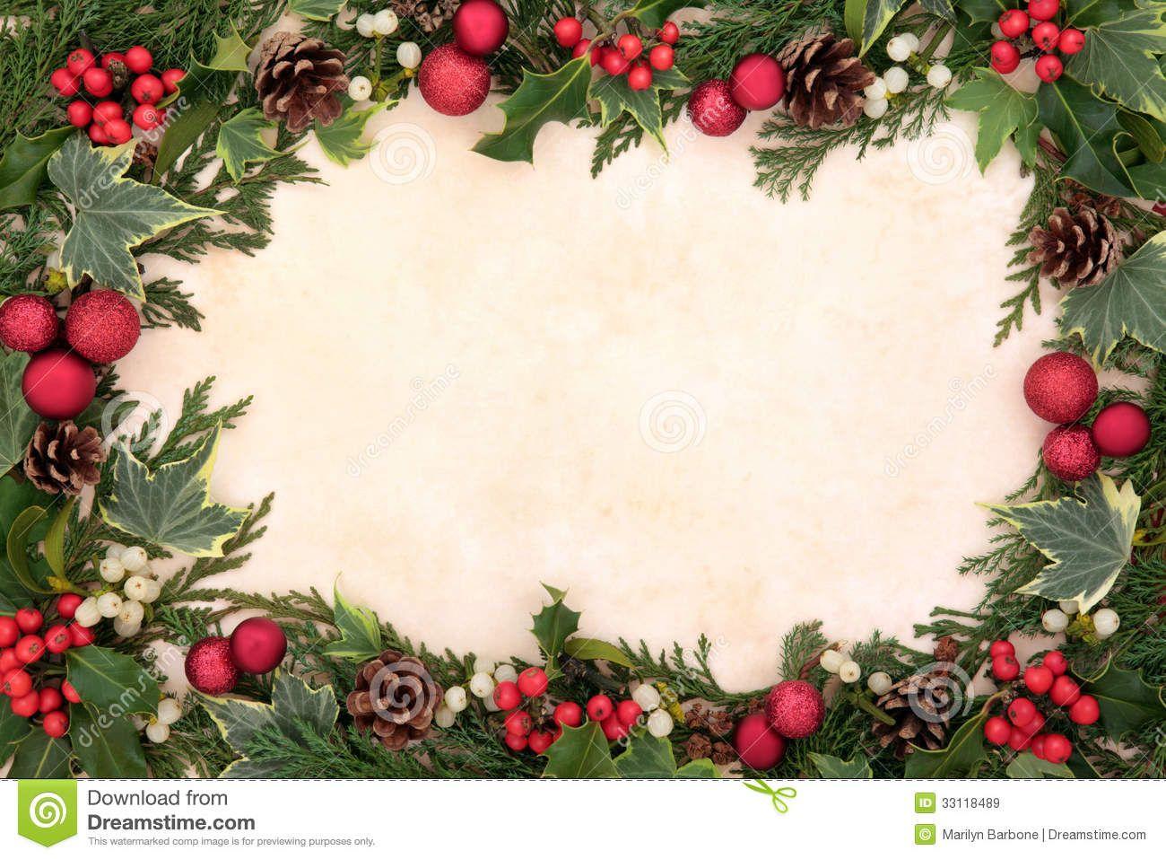 Christmas Background Borders Arts