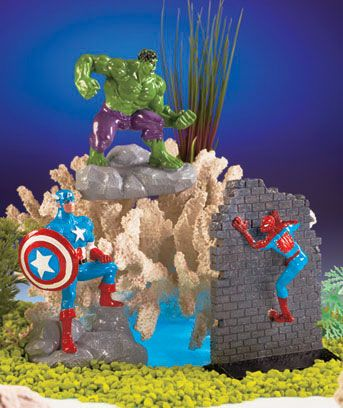 Marvel Superhero Aquarium Ornaments Fish Tank For Kids Fish Tank Accessories Fish Tank Decorations