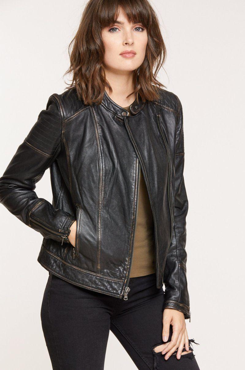 Chelsea Lambskin Leather Moto Jacket Overland in 2020