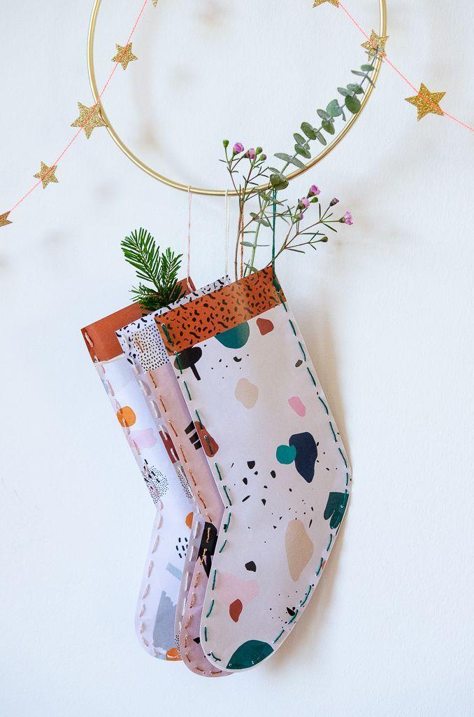 Last Minute Nikolaus Geschenk für alle, die ein kleines Danke verdient haben. Free Printable Nikolaus Strumpf - | Pinkepank #nikolausgeschenk
