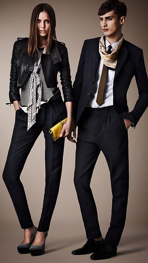 BURBERRY | Gathered Waist Silk Linen Trousers