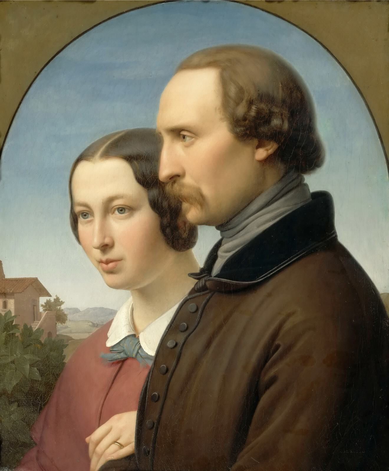 Franz Ittenbach - Portrait of Ernst Deger and His Wife Augusta