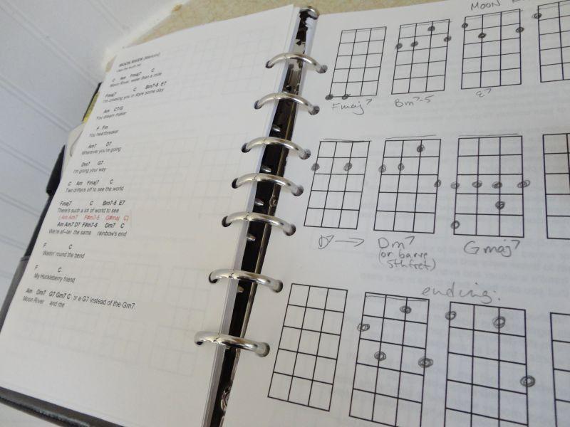 ukulele notebook nerd girl ukulele ukulele chords ukulele songs. Black Bedroom Furniture Sets. Home Design Ideas
