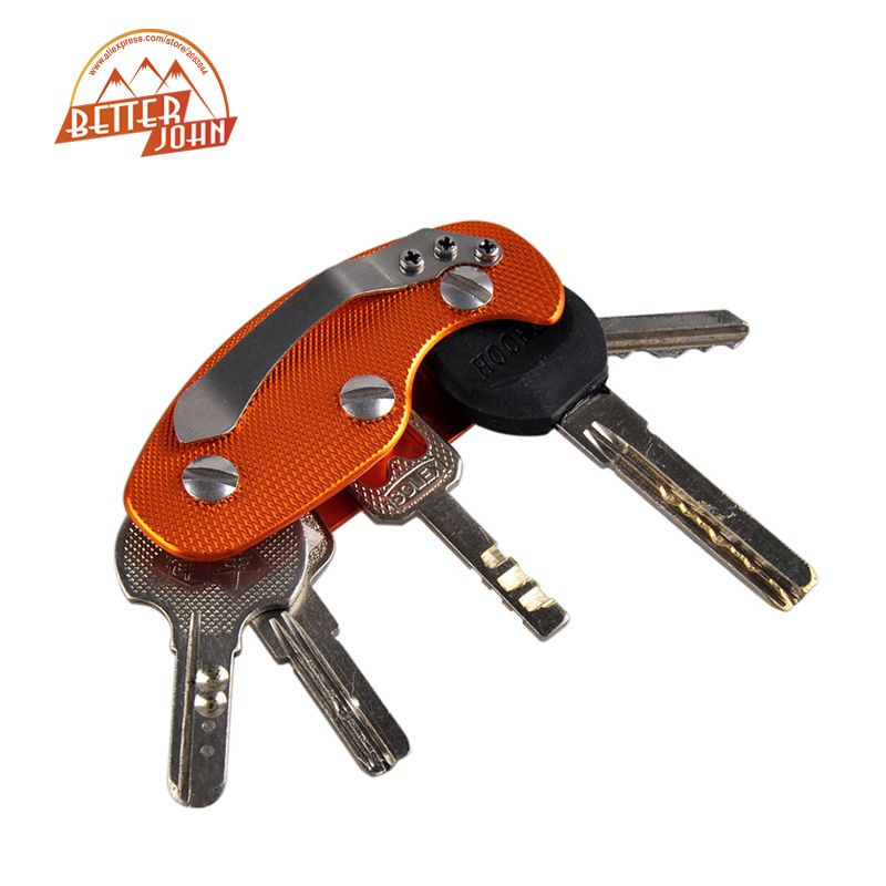 EDC Gear Pocket Outdoor Key Chain Multi Tool Crowbar Cutter Screwdriver LD