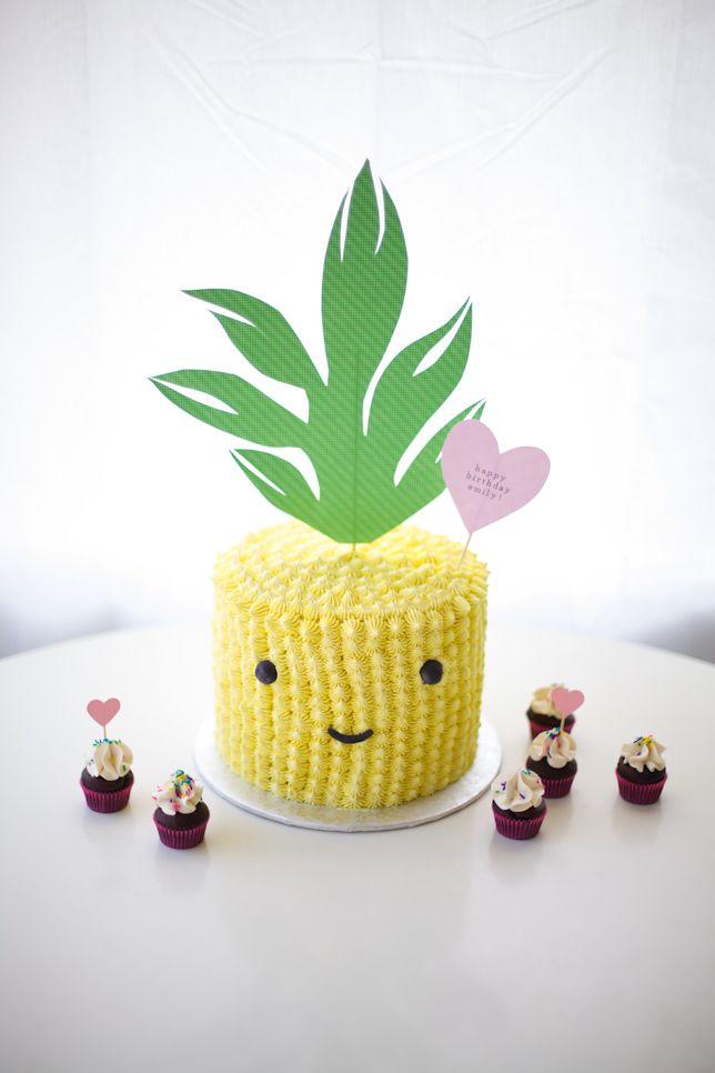 cute pineapple cake - coco cake land