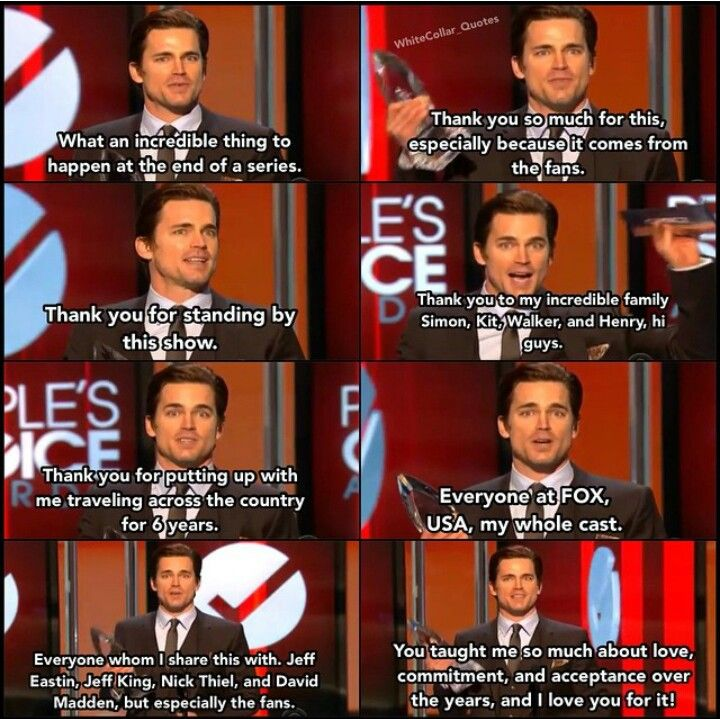 His acceptance speech upon winning peoples choice