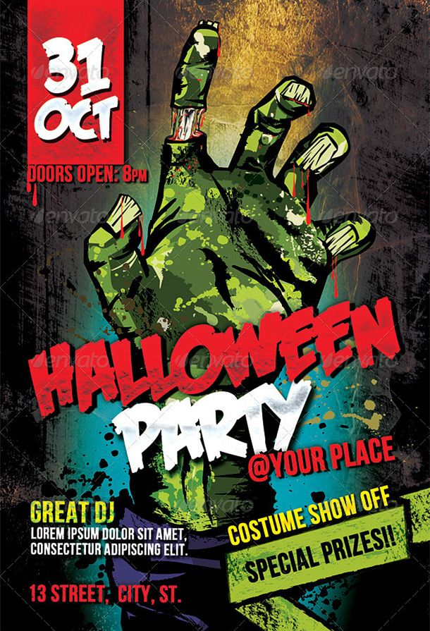 Cool Halloween Flyers   Flyer Diptico Triptico