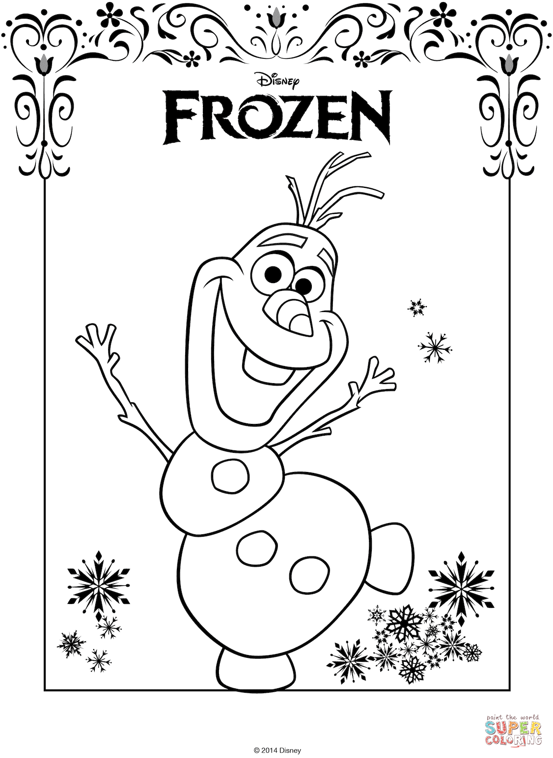 Olaf From Frozen Coloring Page Free Printable Coloring Pages Frozen Coloring Pages Frozen Coloring Snowman Coloring Pages