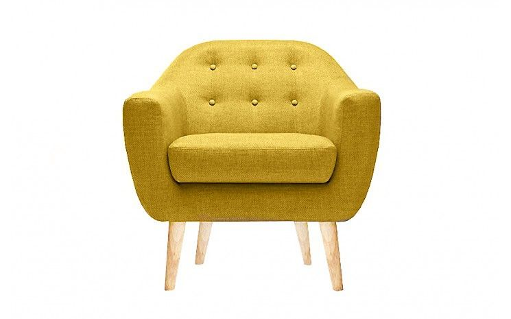 Fauteuil Design Scandinave THEO MOUTARDE Fauteuil Scandinave - Fauteuil design moutarde
