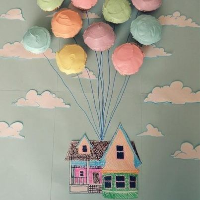 Cupcakes. A painting. A wonder wall for your kids. What's not to #love in this? #win