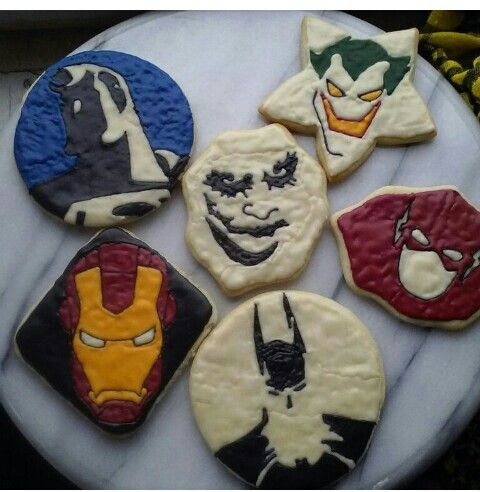 Villians and marvel superheroes cookies