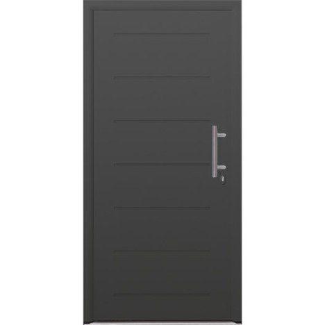 Porte d\u0027entrée acier Must HORMANN poussant droit, H215 x l90 cm