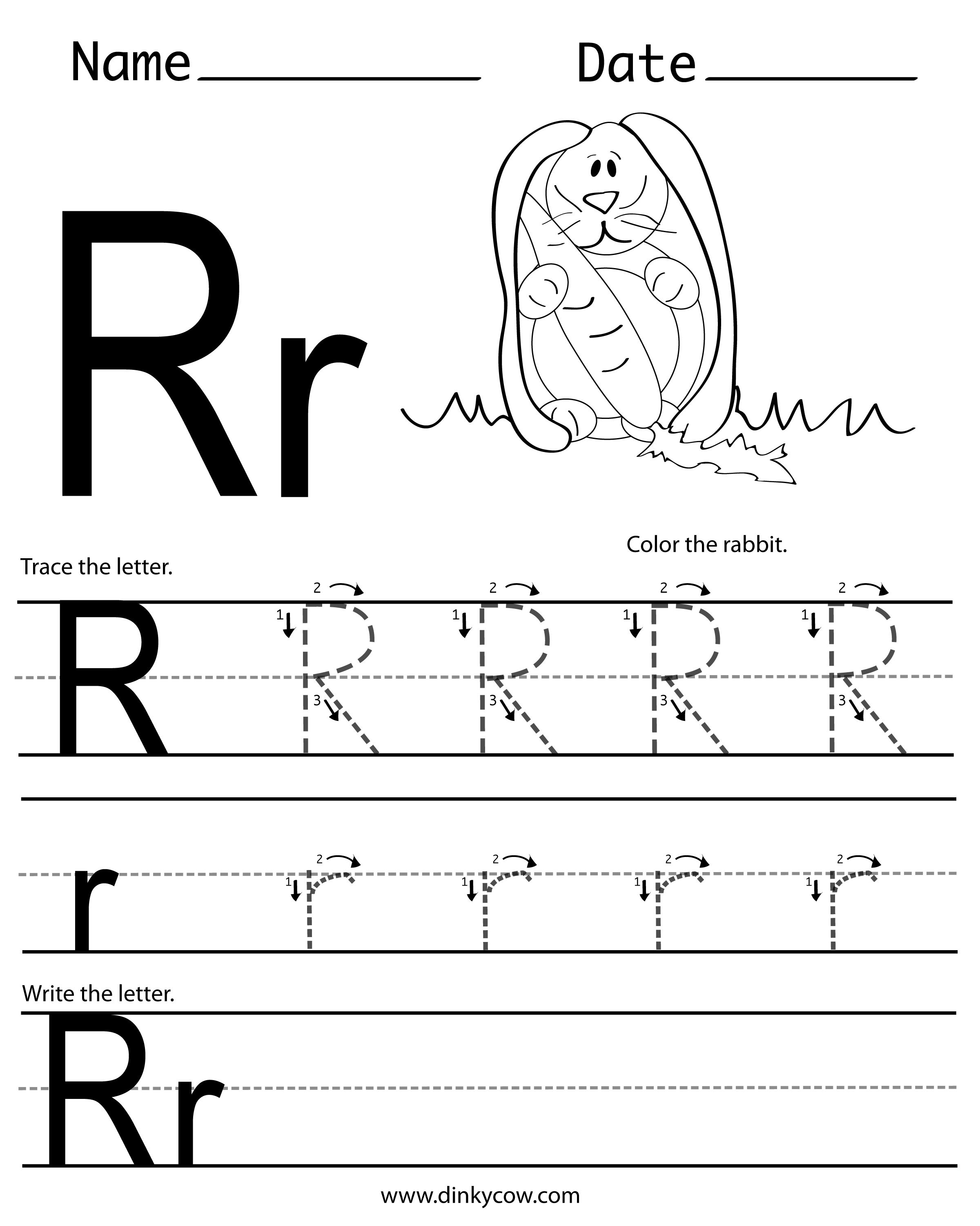 R Free Handwriting Worksheet 2 400 3 000 Pixels