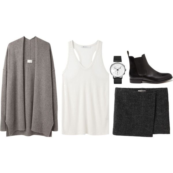A fashion look from February 2013 featuring T By Alexander Wang tops, Étoile Isabel Marant skirts and Loake ankle booties. Browse and shop related looks.