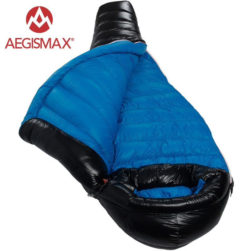 Search For Flights Aegismax 2017 New Winter Camping Professional Ultralight Mummy 90% Duck Down Sleeping Bags Splicing Sleeping Pad Less Expensive Camp Sleeping Gear