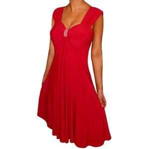 FUNFASH WOMENS PLUS SIZE DRESS SLIMMING EMPIRE WAIST ...