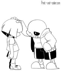 Undertale Coloring Pages Undertale Coloring Sheets For Kids