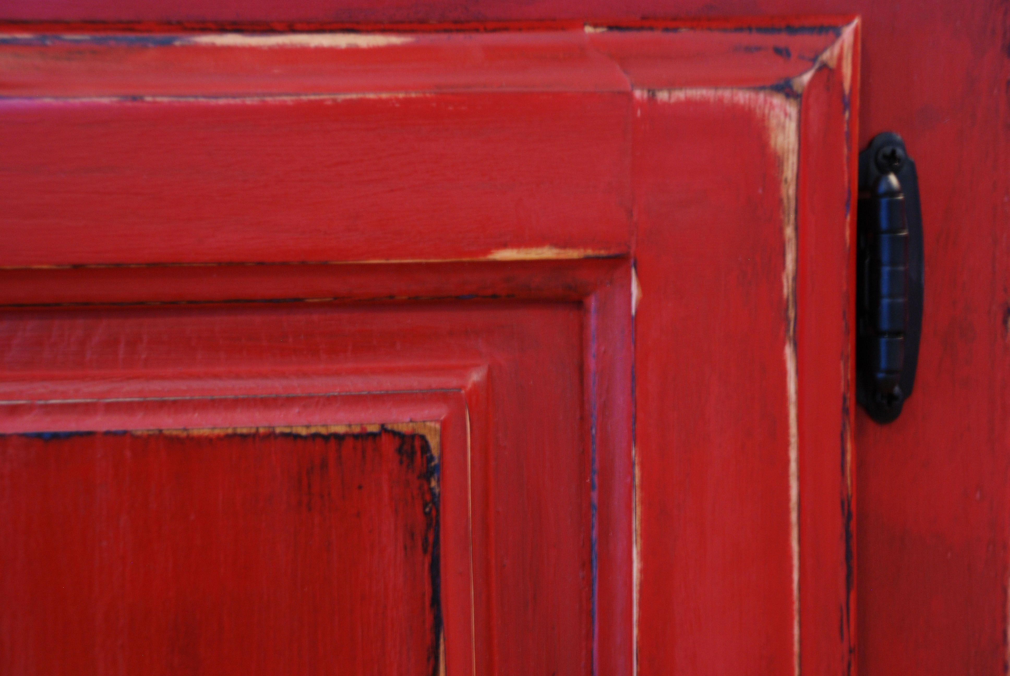 red distressed furniture - Google Search   Red distressed ...