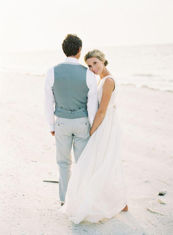30 Beach Wedding Groom Attire Ideas | Wedding groom attire, Beach ...