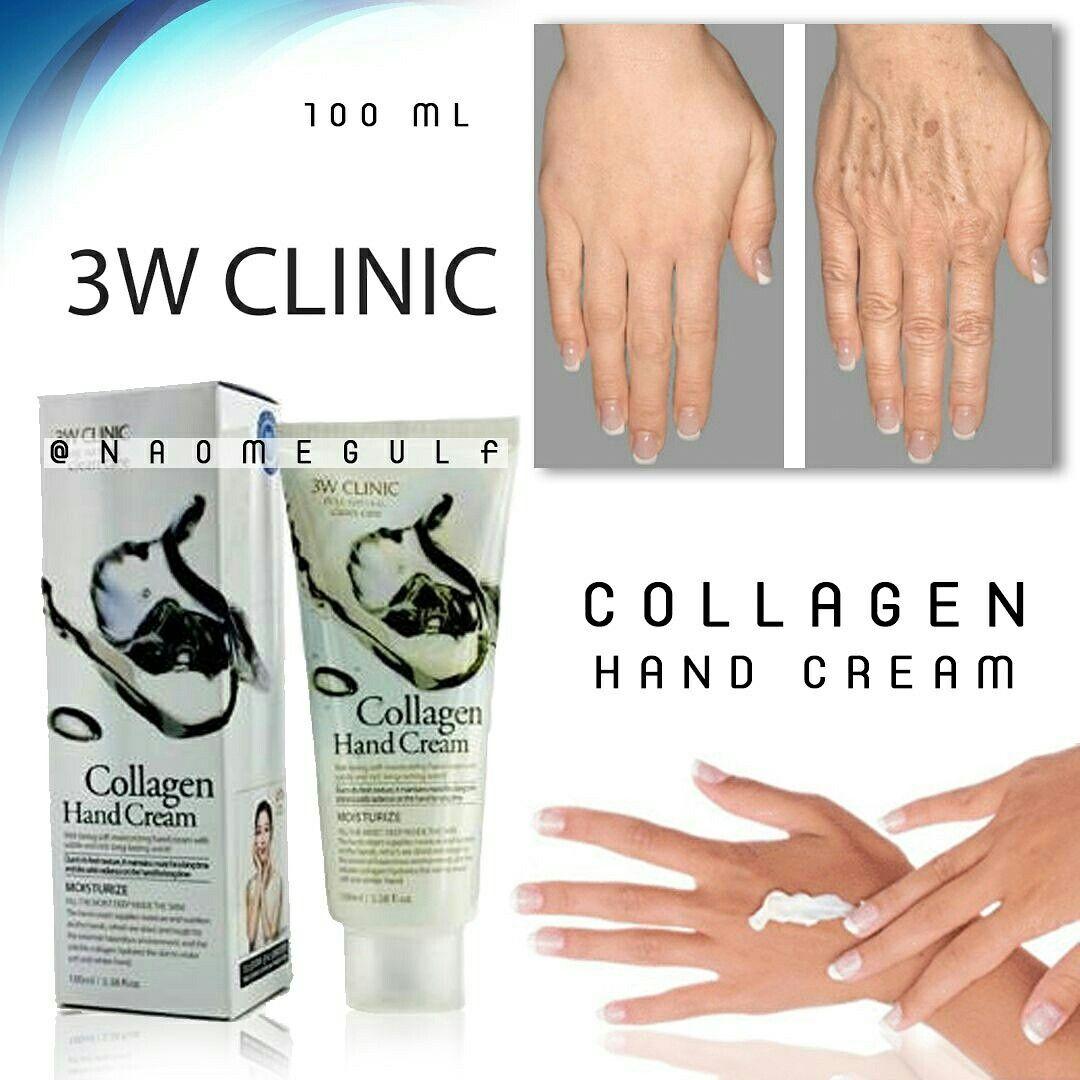 كريم الكولاجين لليد من ثري دبليو كلينك يحافظ على نضارة ومرونة البشرة ويقاوم ظهور التجاعيد فيها ويحافظ على شبابها الس Body Skin Hand Cream Collagen