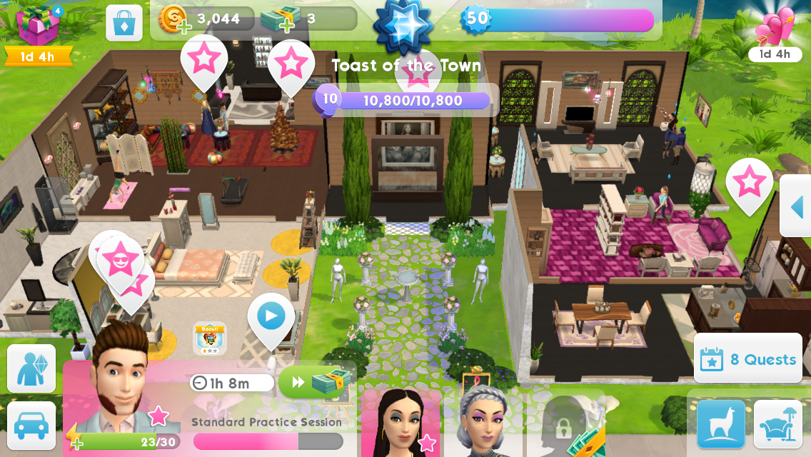 The Sims Mobile house idea (With images) | Sims house, Sims ...