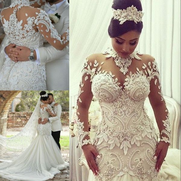 Vestido de novia sirena dubai