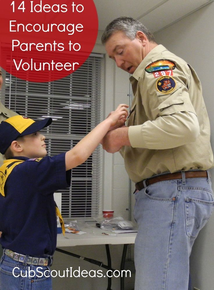 Cub Scouts: Getting Parents Involved ~ Cub Scout Ideas
