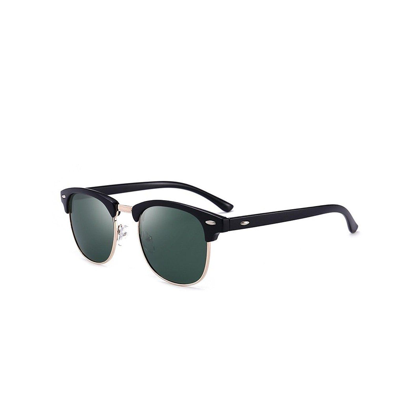 128ff02184 Polarized Mens Sunglasses Womens Classic Half Frame UV 400 Sunglasses For  Man and Woman