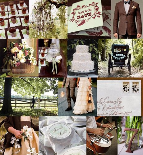 white and brown wedding