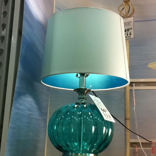 Lowes Teal Table Lamp