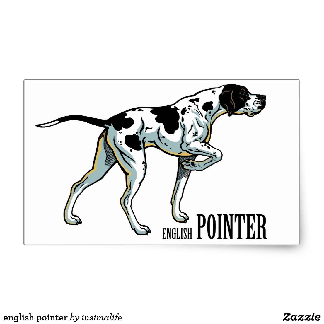 English Pointer Rectangular Sticker