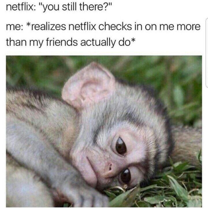 HA my mom and <b>I joke</b> that Netflix is making sure <b>we</b>&#39;re <b>still alive</b> ...