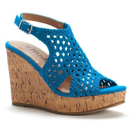 Peep-Toe Platform Wedge Sandals
