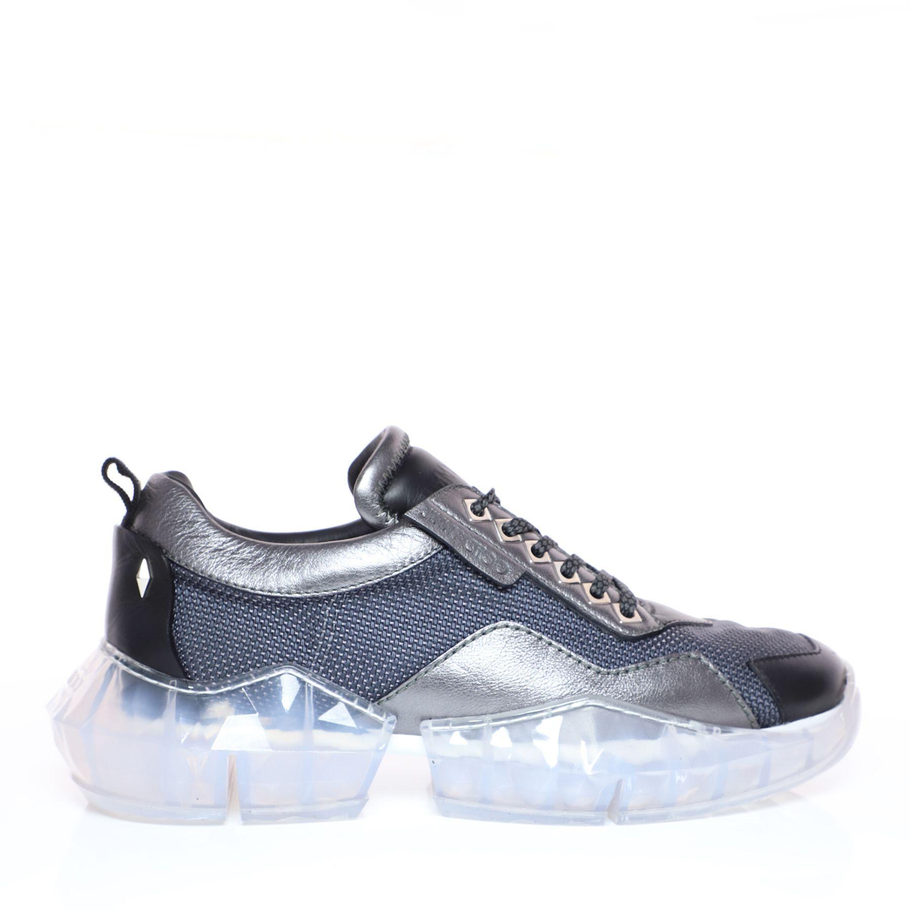 Jimmy Choo Diamond/m Sneaker Aus Grauem