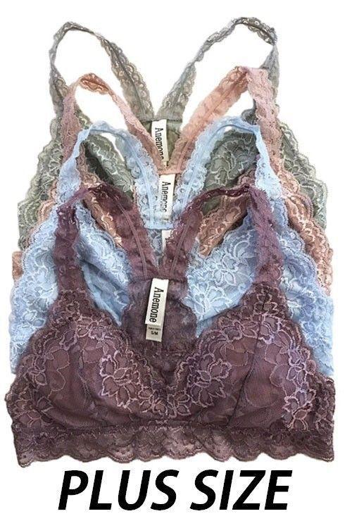 4cace3981bb39 Plus Size Gorgeous Racerback Lace Bralette Bustier Bra Top Lined Bra XL XXL