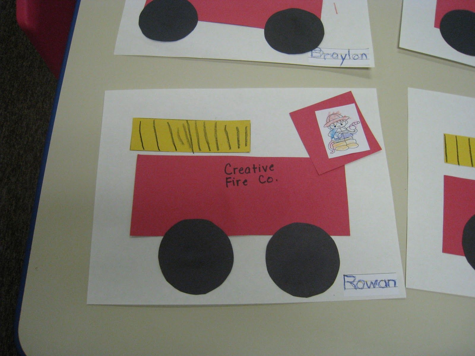 Fire Truck Preschool Craft