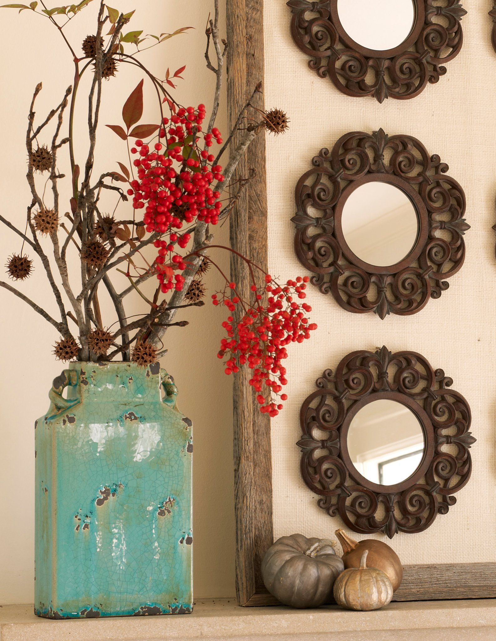 Athena Le Vase To Bring The Turquoise From Kitchen Into Dining Room Cannot Clay Vasered Decorbrown