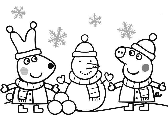 Dibujos de Peppa Pig para imprimir y colorear; ¡Gratis