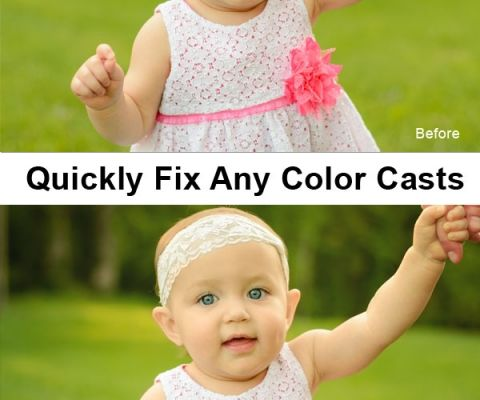 Quickly Fix Any Color Cast in Photoshop or Elements by DSisk Photography via iHeartFaces.com