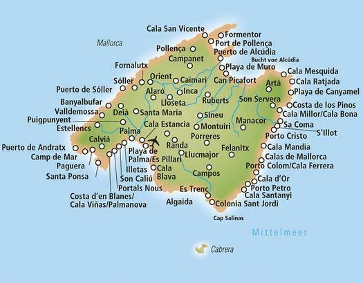 Mallorca Karte Playa De Muro.Mallorca Playa De Muro Karte Kleve Landkarte