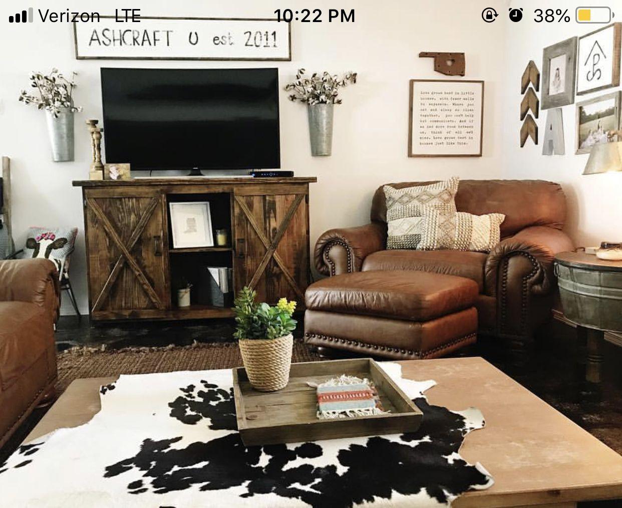livingroom #ranchy #punchy #cowhide #cowhiderug ...