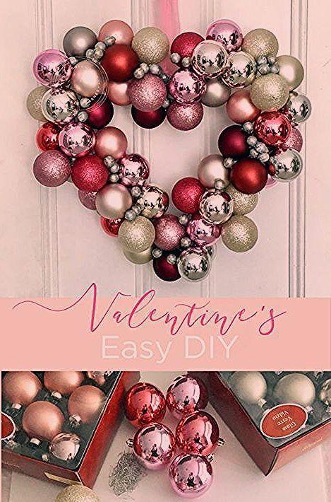 Valentine Day Wreath Simple DIY Valentines Day Wreath  Valentines Day     Valentinstag