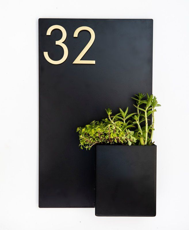 Curb Appeal 1 Line Wall Address Plaque In 2020 Address Plaque Modern House Numbers Sign House Numbers Diy