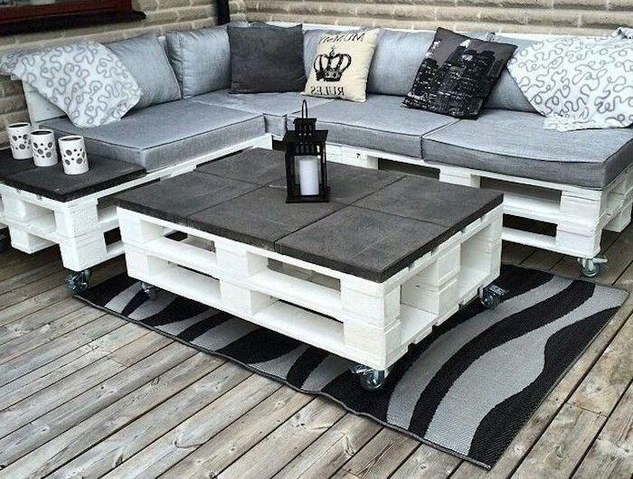 ▷ 56 + Ideen und Bilder zum Thema Palettenmöbel Terrasse - #Bilder #Ideen #Palettenmöbel #Terrasse #Thema #tisch #und #zum #outdoorbalcony