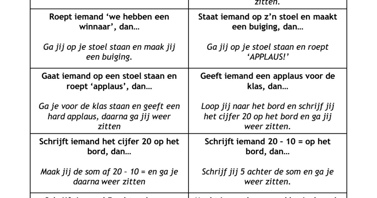 JUF-STUFF reactiespel.pdf | School | Pinterest
