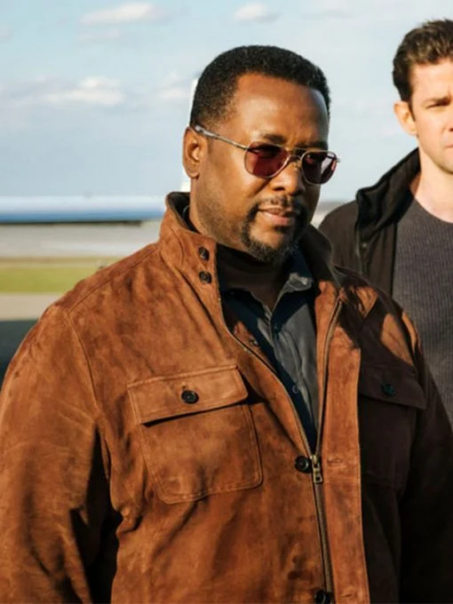 Tom Clancy S Jack Ryan James Greer Suede Leather Jacket The Movie Fashion Suede Leather Leather Jacket Black Cotton Jacket