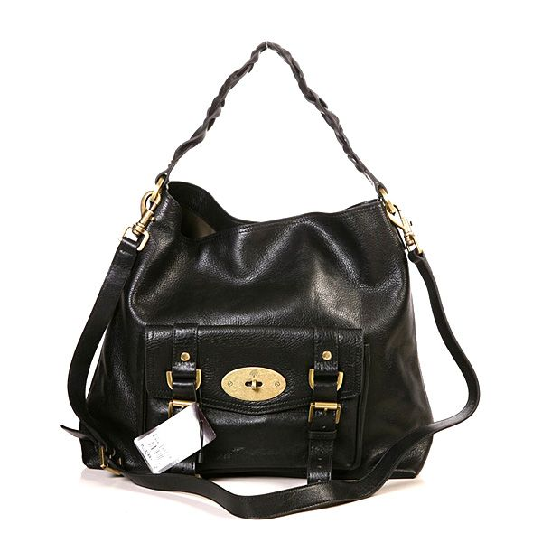 Mulberry Women's Alexa Leather Hobo Bag Black | Mulberry bags ...