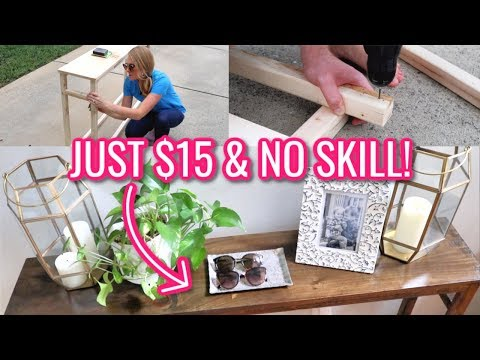 Furniture On A Dime Best Console Sofa Table For 15 No Skill Required Youtube End Table Makeover Diy End Tables Sofa Table