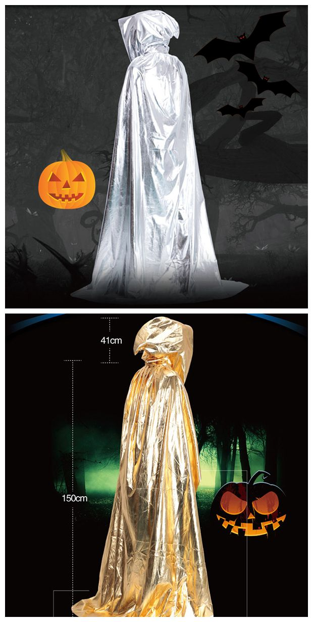 Halloween Party Supply Cosplay Death Hooded Cloak Costume in 2018